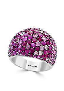 Effy® 925 Sterling Silver Ruby Pink Sapphire Dome Band