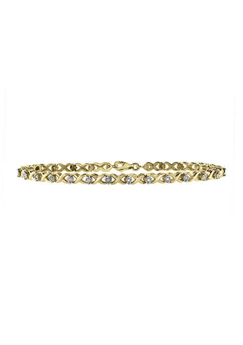Effy® 1/4 ct. t.w. Diamond Bracelet in Gold