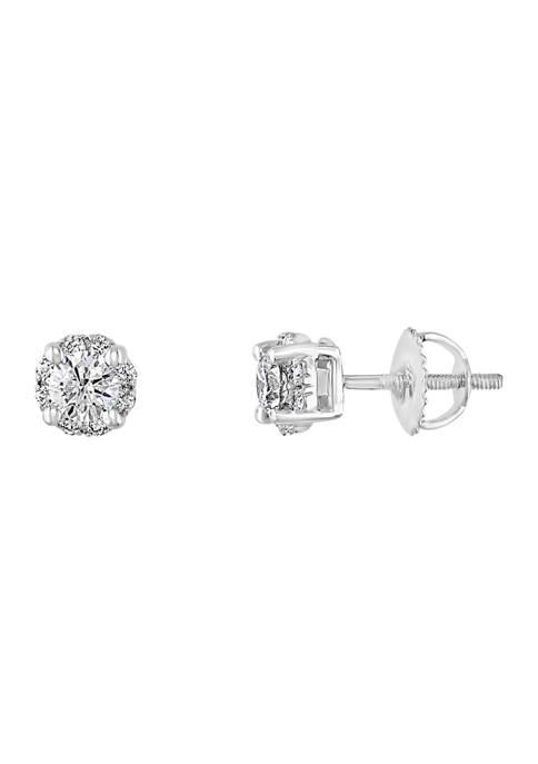 3/4 ct. t.w. Diamond Earrings in 14K White Gold