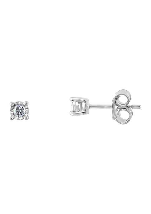 Effy® 1/10 ct. t.w. Diamond Earrings in Sterling