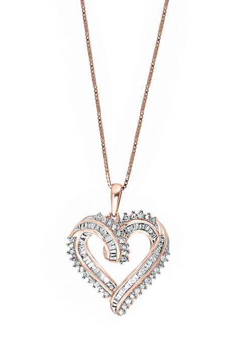 Effy® 1/2 ct. t.w. Diamond Heart Pendant Necklace