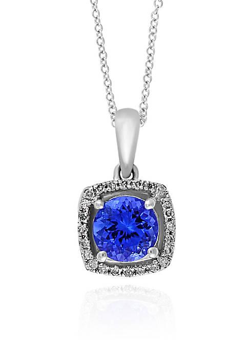 Effy® Round Tanzanite & Diamond Pendant in 14K