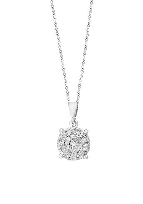 Effy® 0.75 ct. tw. Cluster Diamond Pendant Necklace