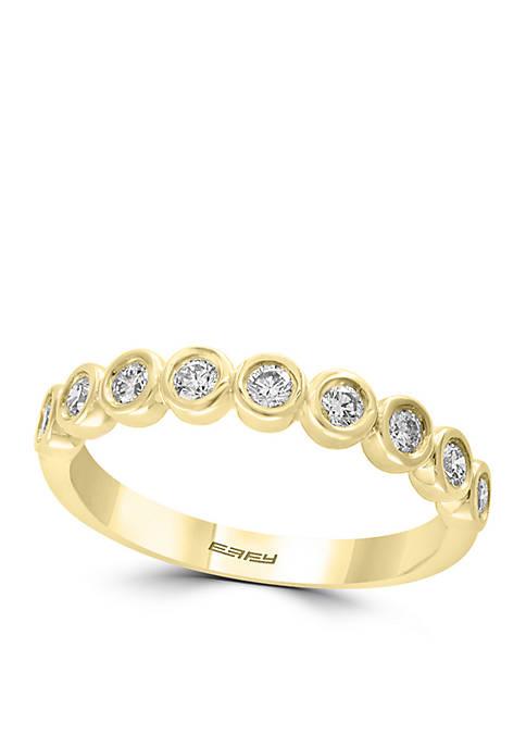 1/3 ct. t.w. Diamond Bezel Set Band in 14k Yellow Gold
