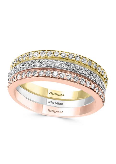 Effy® 5/8 ct. t.w. Diamond 3 Ring Set
