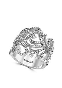 7/8 ct. t.w. Diamond Band Ring in 14k White Gold