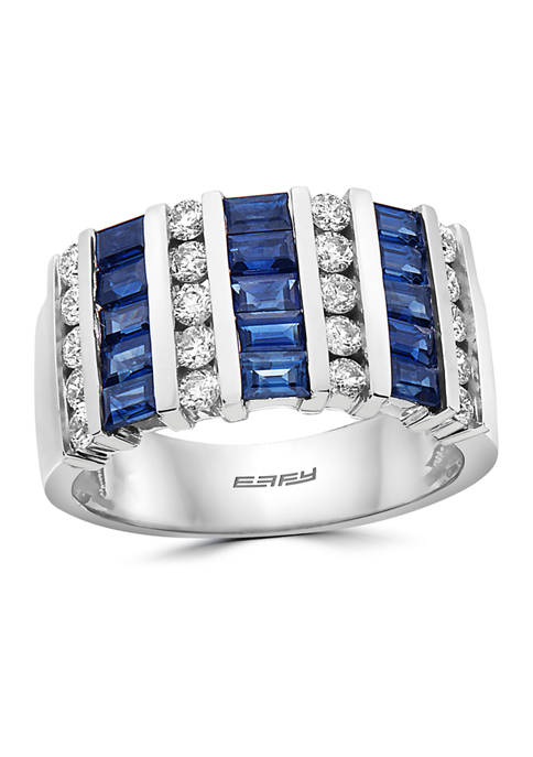 Effy® 1.45 ct. t.w. Sapphire and 5/8 ct.
