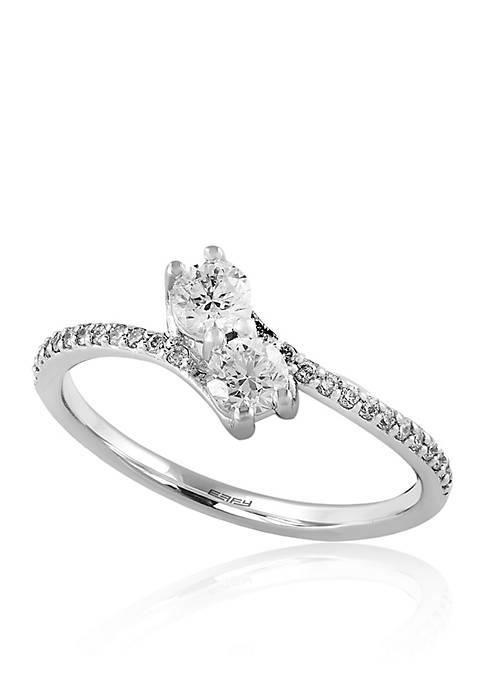 Effy® 0.12 ct. t.w. Diamond Ring in 14K