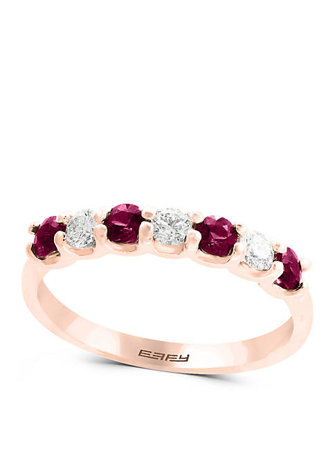 Effy® 1/4 ct. t.w. Diamond Natural Ruby Band