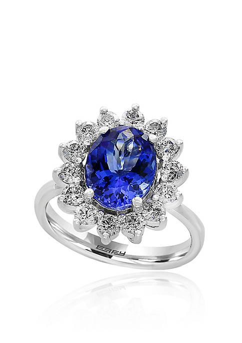 Effy® Tanzanite and Diamond Ring in 14K White