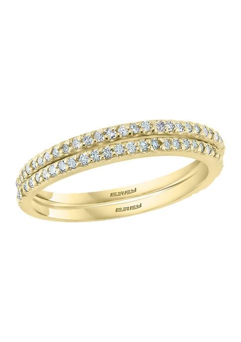 Effy® 1/3 ct. t.w. Diamond Ring in 14K