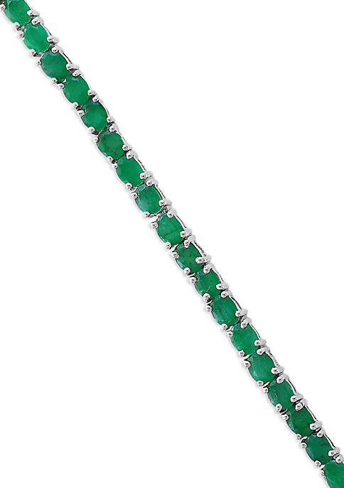 Effy® Emerald Tennis Bracelet in Sterling Silver