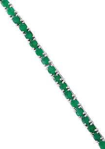Effy® Emerald Tennis Bracelet in Sterling Silver