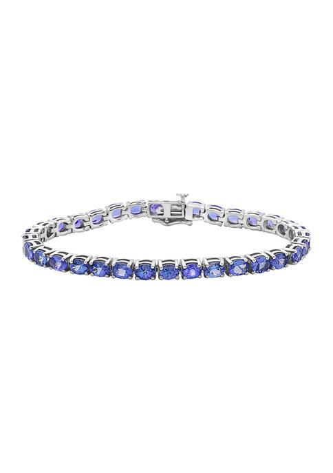 Effy® 9.69 ct. t.w. Tanzanite Bracelet in Sterling