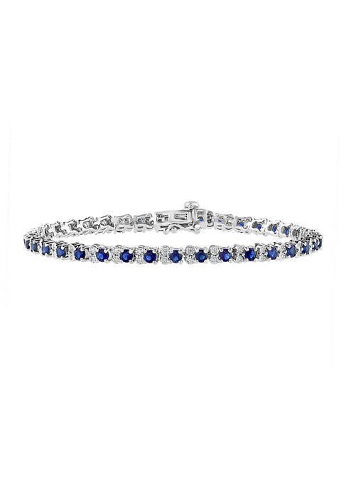Effy® 3.87 ct. t.w. Sapphire and 1/5 ct.