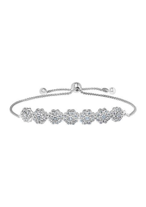 Effy® 1/2 ct. t.w. Diamond Bolo Bracelet in