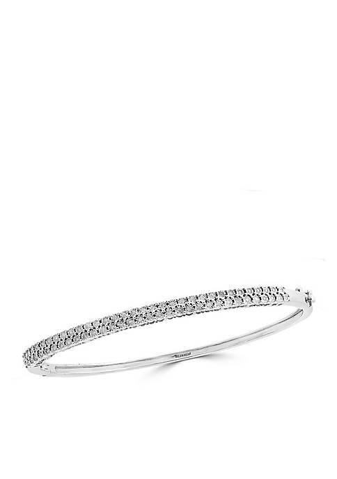 Effy® Sterling Silver Diamond Illusion Bangle Bracelet