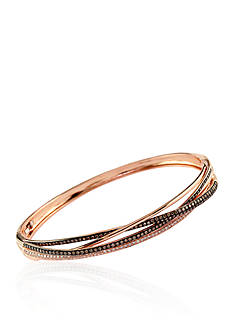 Effy® 1.26 ct. t.w. Espresso & White Diamond Bangle in 14K Rose Gold