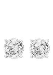1.0 ct. t.w. Diamond Studs in 14K White Gold