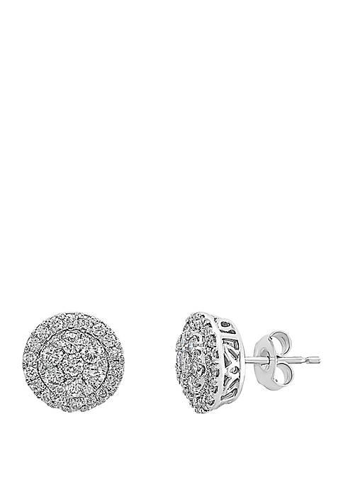 0.95 ct. t.w. Diamond Earrings in  14K White Gold