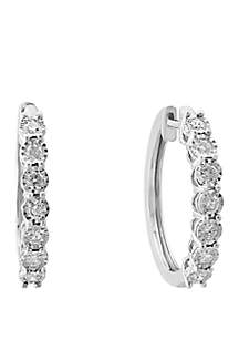 Effy® 0.96 ct. t.w. Diamond Miracle Hoops in Sterling Silver
