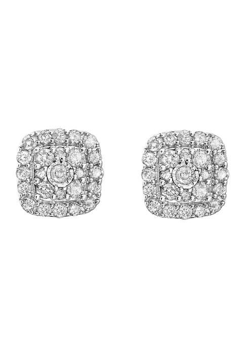 Effy® 1 ct. t.w. Diamond Earrings in Sterling
