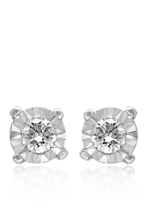 0.25 ct. t.w. Diamond Stud Earrings in Sterling Silver