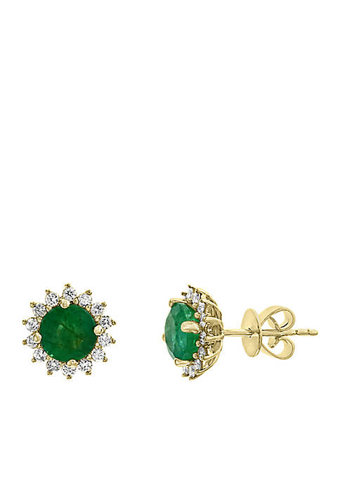 Effy® 1/3 ct. t.w. Diamond and Natural Emerald