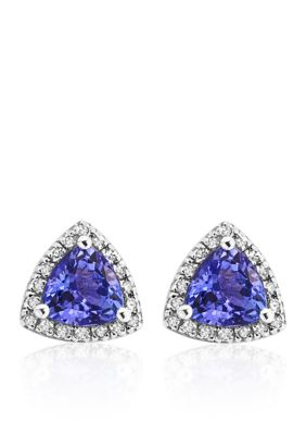 Effy Women Tanzanite And Diamond Earrings In 14K White Gold - Gray