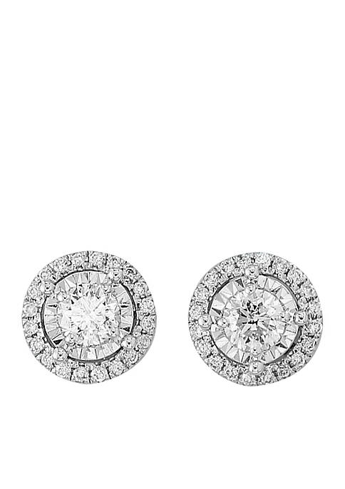 Effy® 1/2 ct. t.w. Diamond Illusion Cluster Earrings