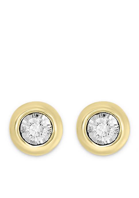 Effy® 14k Yellow Gold Bezel Look Illusion Set