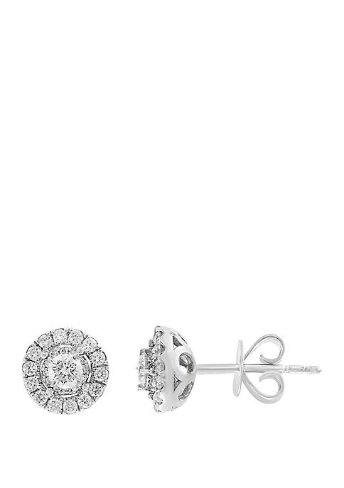 Effy® 1/2 ct. t.w. Diamond Cluster Earrings in