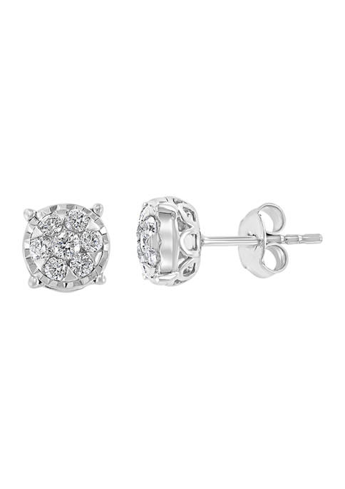 Effy® 1/2 ct. t.w. Diamond Earrings in Sterling