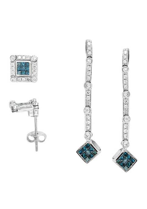 Effy® 1/2 ct. t.w. White and Blue Diamond