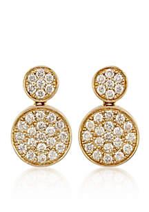 0.75 ct. t.w. Diamond Drop Earrings in 14K Yellow Gold