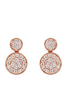 Effy® 3/4 ct. t.w. Diamond Drop Earrings in 14k Rose Gold
