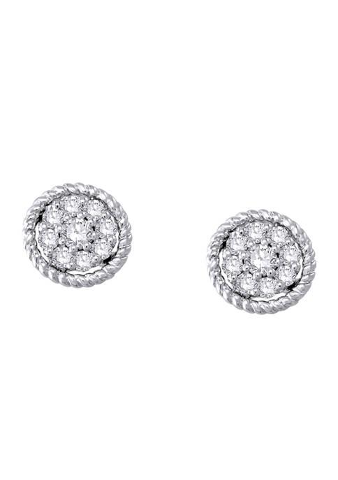 1/3 ct. t.w. Diamond Earrings in 14K White Gold