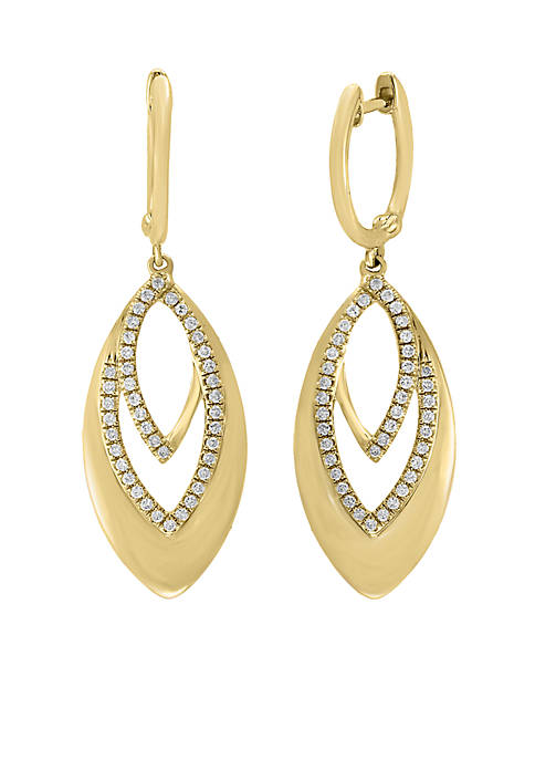 Effy® 14K Yellow-Gold Diamond Earrings
