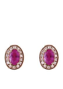 1/10 ct. t.w. Ruby Diamond Earring in 14k Rose Gold