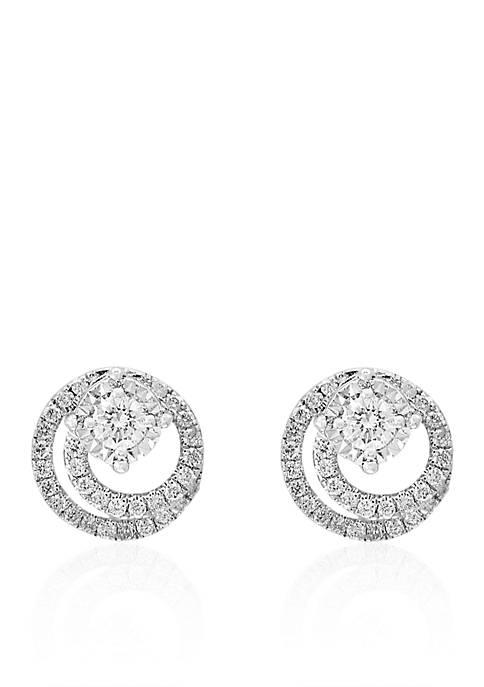 0.31 ct. t.w. Diamond Swirl Stud Earrings in Sterling Silver