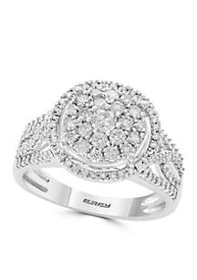 1.0 ct. t.w. Diamond Cluster Ring in 14K White Gold