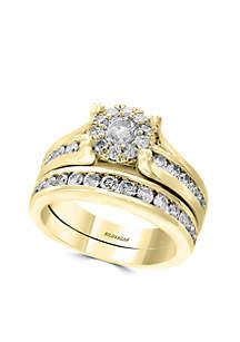 Yellow Gold Diamond Wedding Ring Set