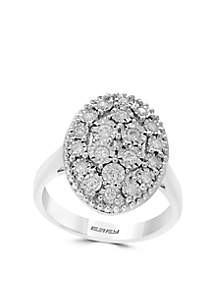 Sterling Silver Miracle Set Diamond Ring