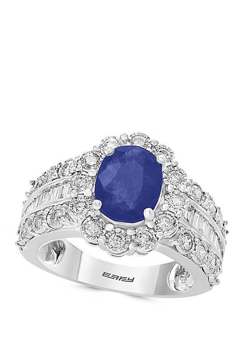 1.9 ct. t.w. Sapphire and 0.94 ct. t.w. Diamond Ring in 14k White Gold