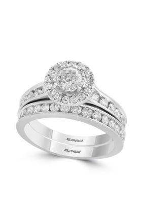 Effy Women 1.47 Ct. T.W. Diamond 2-Piece Ring Set In 14K White Gold