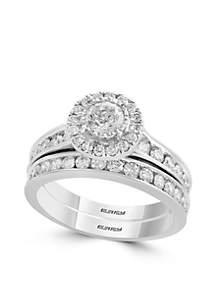 1.47 ct. t.w. Diamond 2-Piece Ring Set in 14k White Gold