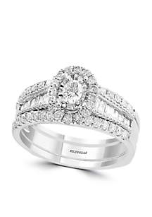 2-Piece 7/8 ct. t.w. Diamond Bridal Ring Set in 14k White Gold