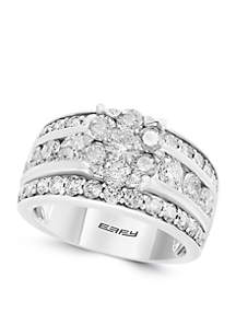 2.92 ct. t.w. Cluster Diamond Ring in 14k White Gold