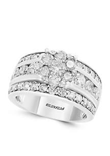 Effy® 2.92 ct. t.w. Cluster Diamond Ring in 14k White Gold