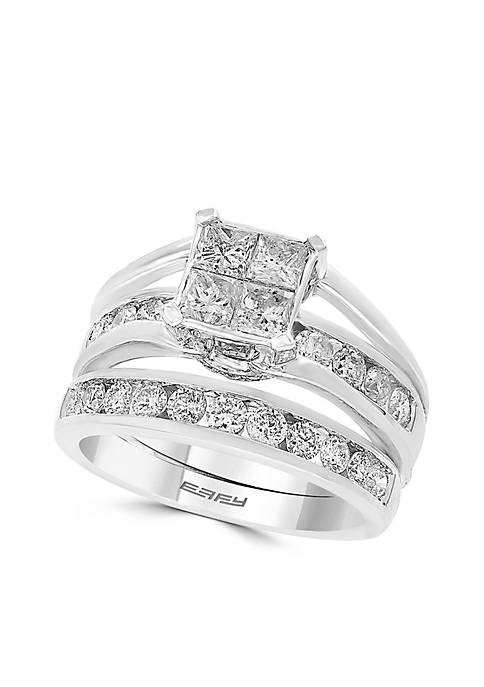2-Piece 1.96 ct. t.w. Diamond Ring Bridal Set in 14k White Gold